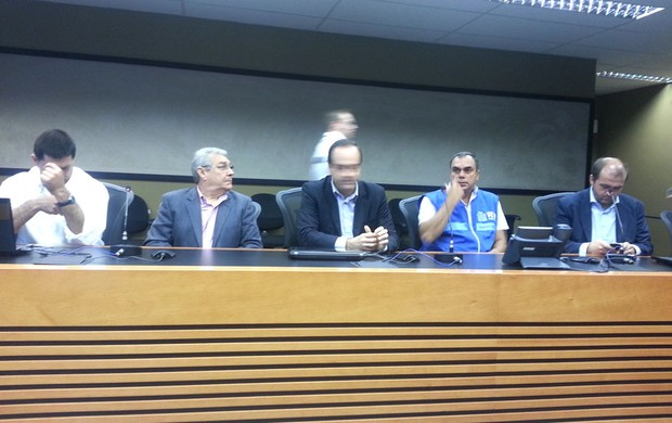 Coletiva sobre esquema de trânsito para o clássico Fluminense e Vasco (Foto: Rafael Cavalieri)