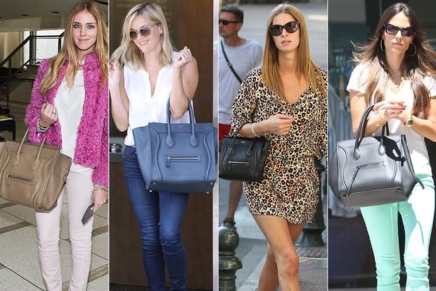 MODA - Bolsa Céline - Chiara Ferragni, Reese Witherspoon, Nicky Hilton e Jordana Brewster (Foto: Getty Images)
