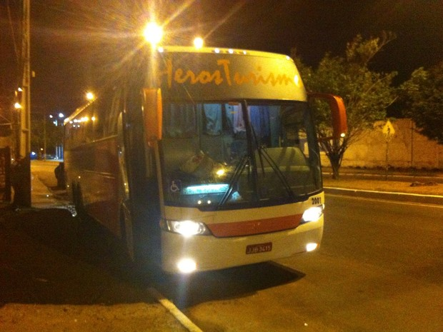 Droga chegou em um ônibus que vinha do estado de Goiânia (Foto: Divulgação/Senarc)