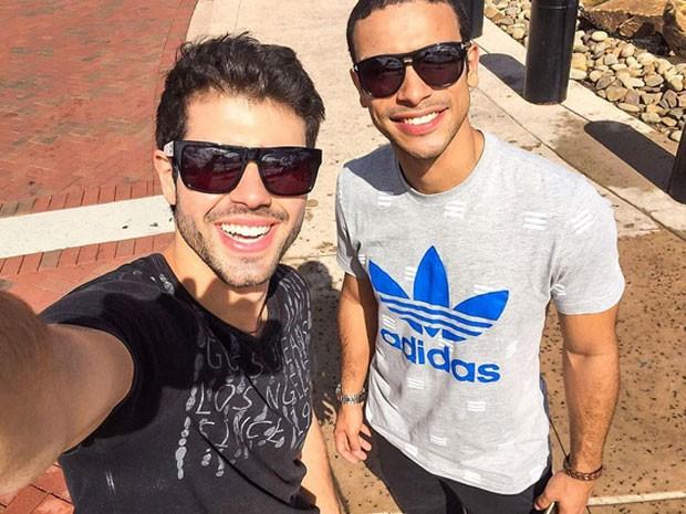 Juliano Laham e Sergio Malheiros em Orlando, nos Estados Unidos (Foto: Instagram/ Reprodução)