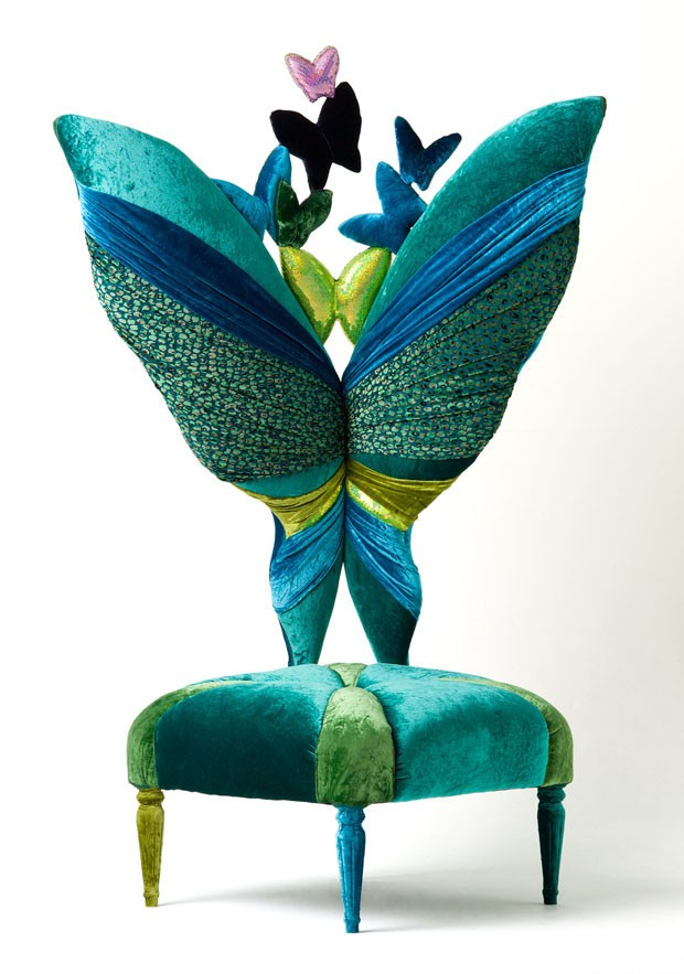 Poltrona Miss Butterfly (2011), de Carla Tolomeo – peça única (Foto: divulgação)