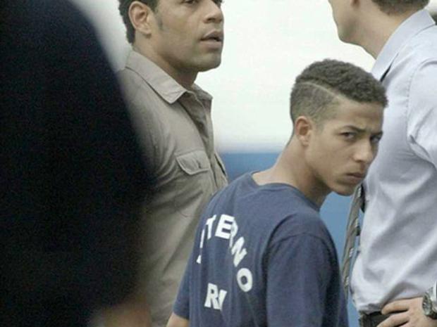Wolnei (Peter) em 'Babilnia', ao ser preso (Foto: Arquivo pessoal)