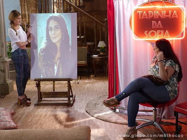 Soraia quer ficar parecida com a atriz Giovanna Antonelli (Foto: Malhação / TV Globo)