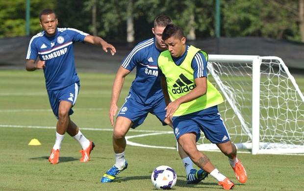 Wallace treino Chelsea (Foto: Divulgação)