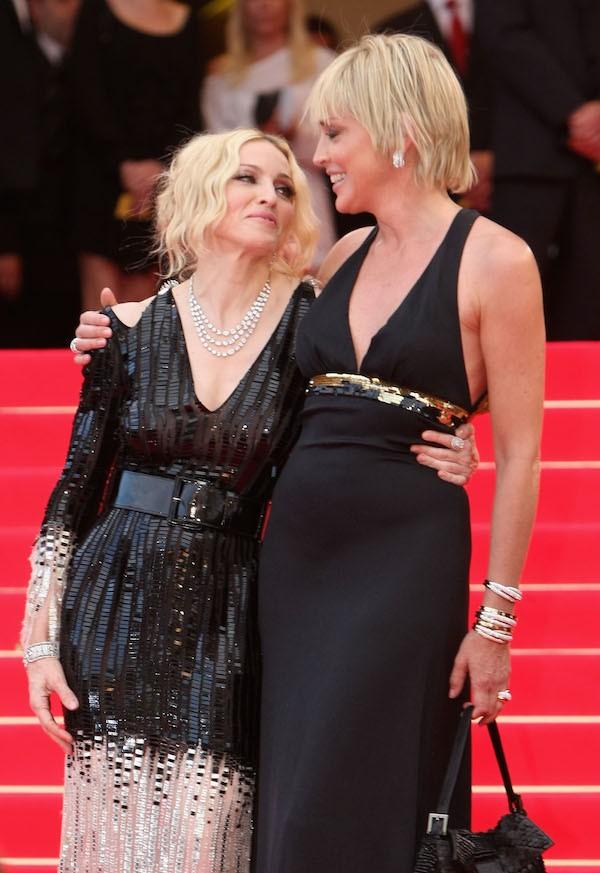 A cantora Madonna e a atriz Sharon Stone (Foto: Getty Images)