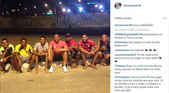Walter Atlético-PR (Foto: Reprodução/ Instagram)