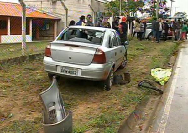 Adolescente atropelado  (Foto: Reprodução/ TV Tem)