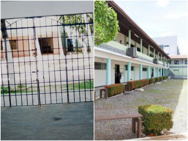 Hospital Guararapes (á esquerda) deu lugar a uma faculdade particular (Foto: Acervo Rita Monteiro)