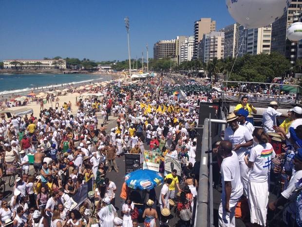 A 6ª Caminhada em Defesa da Liberdade Religiosa acontece neste domingo (8) na Praia de Copacabana, Zona Sul do Rio. (Foto: Gabriel Barreira/G1)
