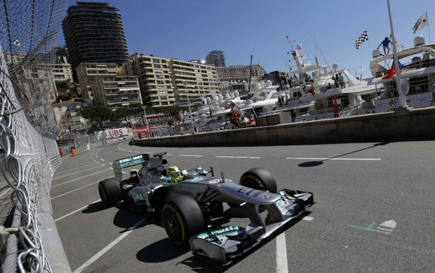 Nico Rosberg, treino GP Mônaco - AP (Foto: AP)