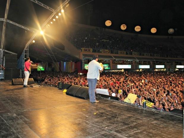 Jorge e Mateus Fest Verão 2012 Manaus (Foto: Adneison Severiano G1/AM)