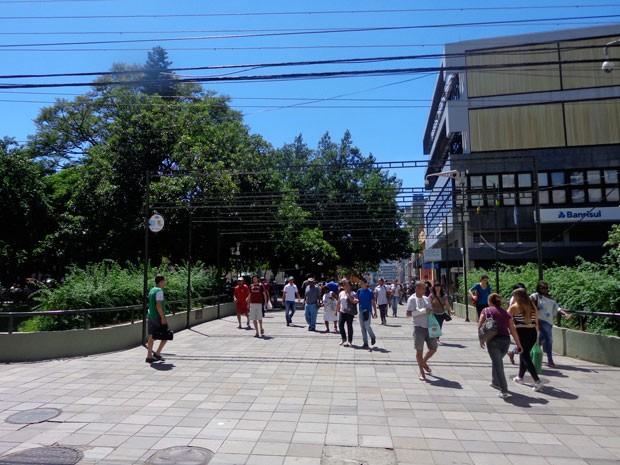 Centro de Santa Maria tragédia boate Kiss (Foto: Felipe Truda/G1)
