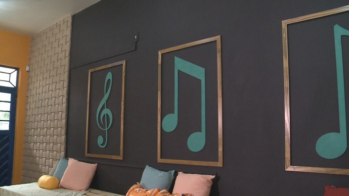 Sala de música da Marcantonio Vilaça I (Foto: Rede Amazônica)