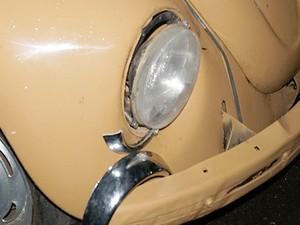 Impacto com VW deixou o militar ferido (Foto: Repórter Naressi)