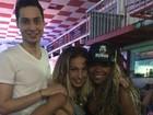 Valesca Popuzuda posa com namorado em prévia de show
