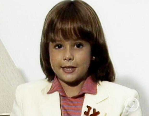 Duda Little na infância (Foto: Reprodução/TV Globo)