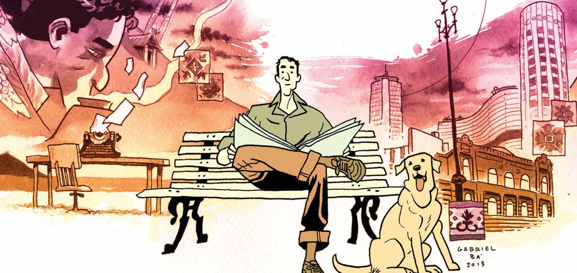 """Parte da ilustração da capa de """"Daytripper"""" (Foto: Reprodução)"""