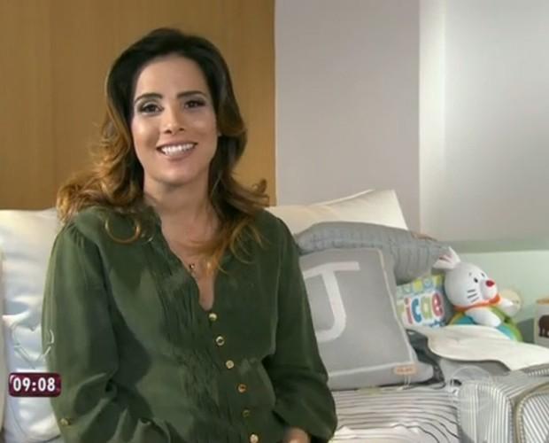Wanessa mostra o enxoval de João Francisco (Foto: Mais Você/TV Globo)