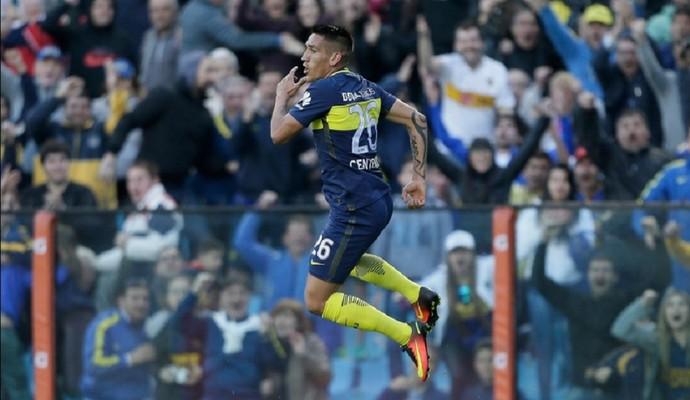 Centurión comemora gol pelo Boca Juniors (Foto: Divulgação/Boca Juniors)