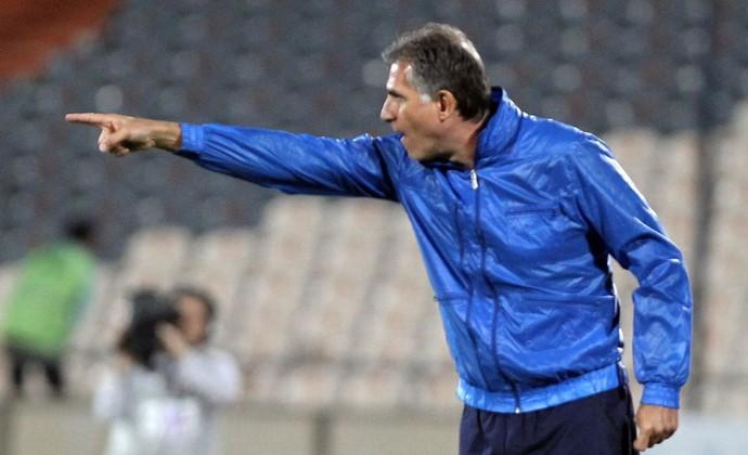 Carlos Queiroz, técnico do Irã (Foto: AFP)
