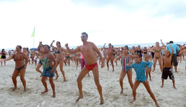 A galera requebrou na aula de dança (Foto: Divulgação/ RPC)