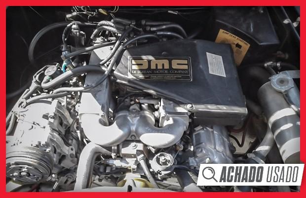 Motor V6 2.8 é o suficiente, sem garantir muita esportividade ao DeLorean (Foto:  Reprodução)