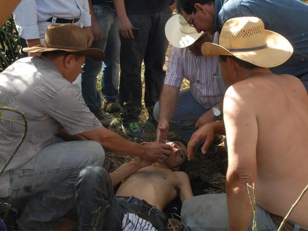 Ademar Inácio foi encontrado em um barranco às margens da GO-060, em Goiás (Foto: Claudemir Ratinho/ Arquivo Pessoal)