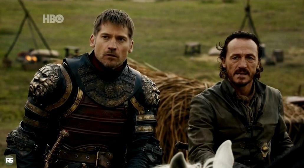 Jaime e Bronn veem um dragão pela primeira vez em GoT (Foto: Reprodução/Twitter)