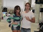 Tá ficando sério: Babi Rossi e Olin viajam de helicóptero para Angra