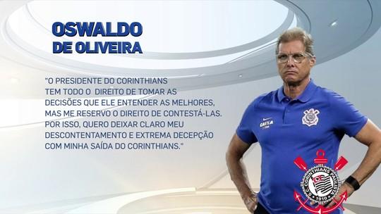 """William vê """"trapalhada"""" da diretoria do Corinthians no caso Oswaldo"""