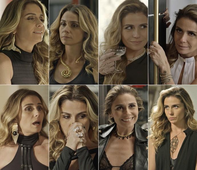 Atena sempre apostou em acessórios extravagantes para compor seu estilo nada discreto (Foto: TV Globo)