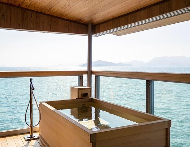 Hotel flutuante de luxo desbrava mar do interior do Japão (Foto: Divulgação)