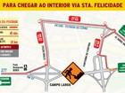 Obras na BR-277 entre Curitiba e Campo Largo podem gerar lentidão