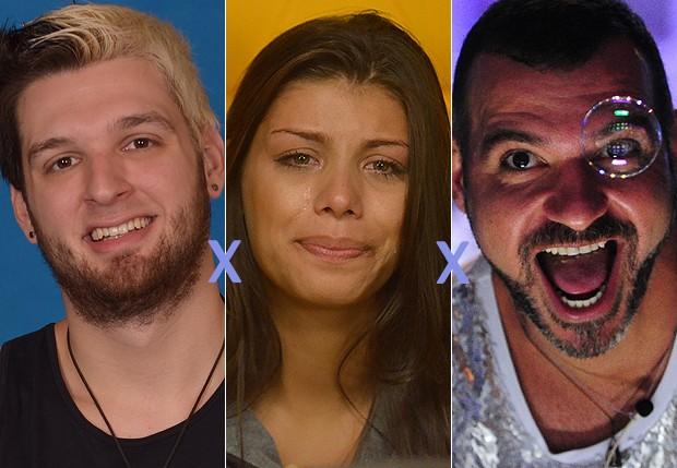 'BBB14': Cássio, Franciele e Vagner; Quem deve ser eliminado?