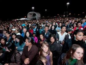Trinta mil pessoas acompanharam a entrega do título de uma das Novas Sete Maravilhas da Natureza (Foto: Nilton Rolin)