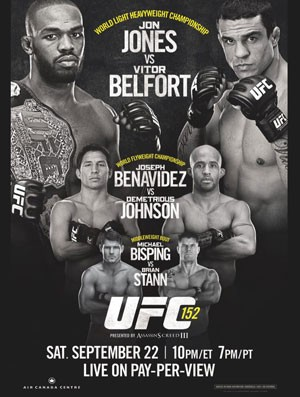 poster do UFC 152 com Jon Jones x Vitor Belfort na luta principal (Foto: Divulgação)