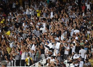 Torcida do Botafogo no Nilton Santos (Foto: André Durão)