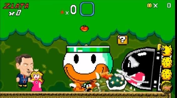 Diego Costa em sátira do game Mario World