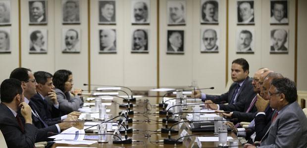 Governadores reunidos com o ministro da Fazenda, Nelson Barbosa (Foto: Gustavo Raniere/Ministério da Fazenda)