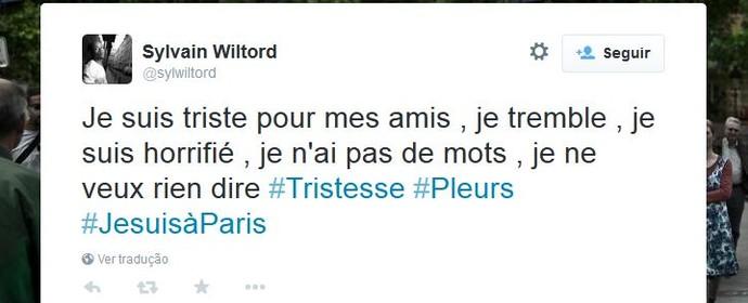 Wiltord lamenta mortes dos amigos nas redes sociais (Foto: Reprodução/Twitter)
