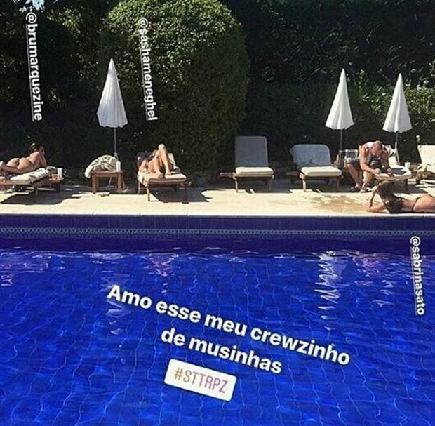 Sabrina Sato, Sasha Meneghel e Bruna Marquezine (Foto: Reprodução/Instagram)