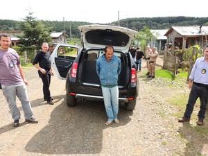 Homem foi preso em Santa Cecília, SC (Foto: Polícia Civil/Divulgação)