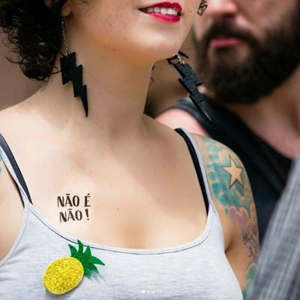 Tattoo temporária da Tatuagem Mania (Foto: Reprodução)