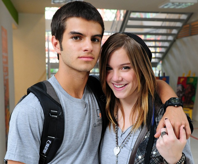 Daniel Blanco contracenou com Alice Wegmann em 'Malhação' (Foto: Rede Globo/Alex Carvalho )