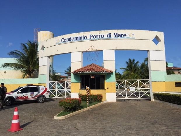Delegado da Polícia Federal foi morto a facadas em residência em Paripueira (Foto: Roberta Cólen/G1)