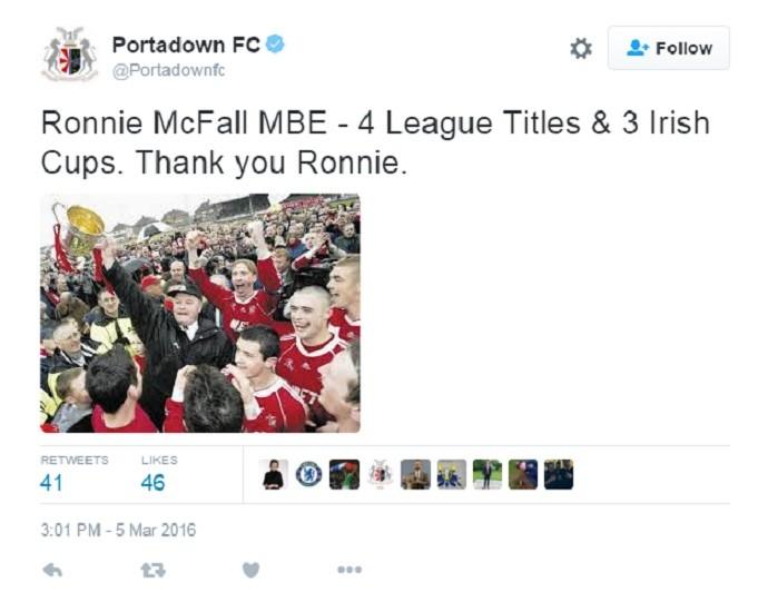 Ronnie McFall demissão
