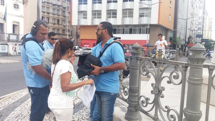Bastidores Aprovado Comércio (Foto: TV Bahia)