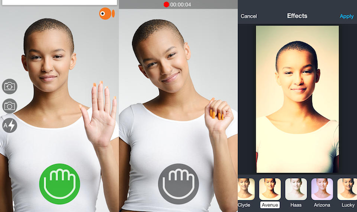 Faça selfies usando apenas gestos com o GoCam (Foto: Divulgação/AppStore)