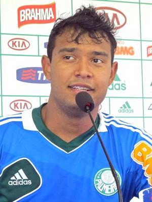 Vinícius, treino do Palmeiras (Foto: Diego Ribeiro / Globoesporte.com)