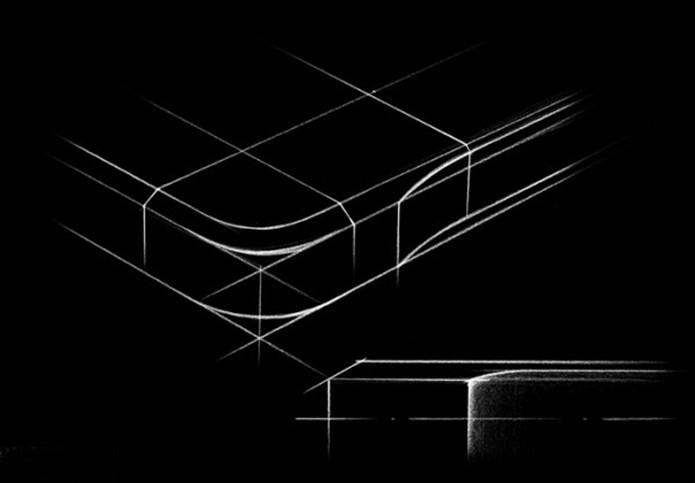 Projeto do canto arredondado do Galaxy Alpha (Foto: Divulgação/Samsung Tomorrow)